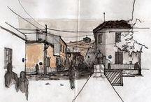 sketch, drawing & illustration / Sketch, Illustration, Freehand artist, Architecture, Urban sketcher, USK, Drawing, Blog de dibujos, Croquis Arquitectonicos