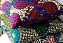 Decoración con telas africanas wax / Ideas para usar las telas wax en decoración de hogar