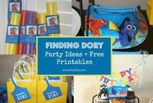 Finding Dory Party Ideas / Finding Dory Party Ideas and Finding Dory Free Printables, Invitation, Party Favors, Food, and more. www.anytots.com