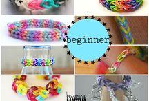 Rainbow loom / Bracelets