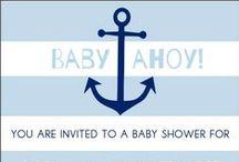 Nautical Baby Shower / Nautical baby shower ideas including nautical baby shower cakes, nautical themed decorations, nautical baby shower favors and nautical baby shower invitations.