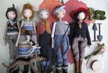 Crochet Dolls / Связанные крючком (и на спицах) куклы, схемы, идеи.