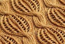 Palmikko- yms. neulekuvioita