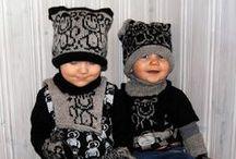 Neulotut lasten vaatteet