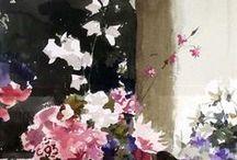 цветы, акварели