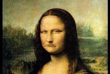 Mona Lisa Parody или доска №50 / Мона Лиза. Она же  Джиоконда.  Единственная и неповторимая