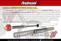 Spring Conversion System for Showa SFF-air cartridge / Andreani Group is proud to present our cartidge kit conversion system from Showa Air front fork. The kit is available for Honda CRF 250 15/16, Kawasaki KXF 450 15/16 and Suzuki RMZ 450 15/16. It is adjustable in spring preload and increases flow giving more handling and comfort.  For info: sales2@andreanigroup.com