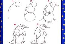 How to draw artic animals