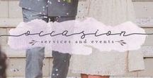 Occasion Services & Events Brand Inspiration / Occasions Services and Events Brand Design Inspiration | Color Palette Inspiration | Launch Your Daydream | Wedding Planner | Event Planner | Creative Business Owner