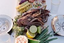 Seafood Party Ideas / Seafood party ideas including food ideas, decorations, invitations and centerpieces for planning a new england clam bake, a shrimp boil party, a seafood boil party, a lobster boil party, a lobster bake party, a low country boil party or a fish fry party.