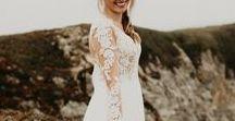 Beach Bohemian Wedding Dress / Boho beach brides and beach bohemian wedding dress inspiration