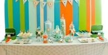 Surf Party / Surf party ideas including surf party decorations, surf party favors, surfboard party supplies. Inspiration for planning a surf's up party, surfer birthday and a surf themed party.