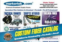 Markertek Custom Fiber / We specialize in Custom Fiber Solutions for Broadcast, Pro-Audio and Pro-AV. Our n-house shop is LEMO & Neutrik opticalCON factory trained and certified. We are ready to build your Hybrid SMPTE 311M and 304M compliant camera cables, breakouts and 2-12 channel tactical fiber snakes. We also offer custom length ST, SC, LC cables for studio, outside broadcast or fixed installation. We will perform full diagnostic and repair services regardless of manufacturer with quick turnaround times.