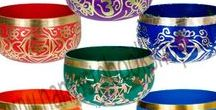 Singing Bowls for Sale NYC / This board features singing bowls for healing and spoons to add color, charm and interest to any home or sacred place. Check our singing bowls for sale here: http://www.namastebookshop.com/sound-healing/