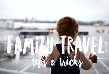 Travel with kids: tips and tricks! / Traveling with your children can be one of the most rewarding things you will ever do. Here's our round-up of tips and tricks for fun and stress-free adventures.