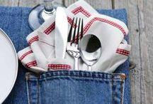 """Inspirations DIY Jean spirit / Inspirations & belles idées pour les Do it Yourself sur le thème """"Jean spirit"""" dans tous les domaines créatifs (tricot, couture, bricolage, déco, maison, mode, beauté...)"""