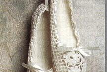 Footwear. Calzado a crocre..zapatillas, patucos. / by Teresa Rguez