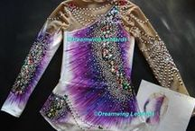 Rhythmic gymnastic leotards, my works -made by Dreamwing Leotards
