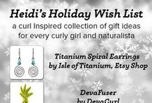 Heidi's Curl Inspired Wish List / Heidi shares the products and ideas she loves in her curly-girl  wish list. How many would you like to do, wear, or add to your list this year?  #QRedew #WishList #NaturallyCurly #CurlyGirl