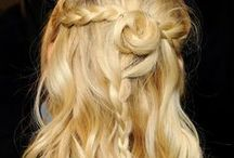 style inspiration / goddess hair / Hairstyles, haircuts, hair colors... Updo's, half-up-do's, ponytails, braids...