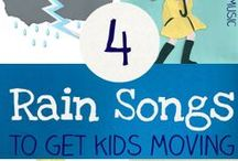 Rainy Day Activities / Ideas and activities to engage kids on those rainy days!
