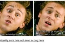 I love Tom Hiddleston ⭐ Get Over It / Because he's just that amazing.  #hiddlestoner #lokid #hiddles
