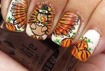 Thanksgiving nails / Nailart for Thanksgiving!