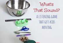 Listening Games / Listening games and listening activities for children. Great for sensory development and developing listening skills.