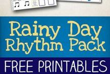 Rhythm Games & Activities / Rhythm games and activities for kids. Lots of simple, fun and engaging ways to introduce children to basic music notation, clapping games, rhythm flashcards and other fun activities.