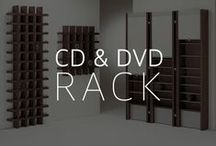 Cd & Dvd Rack by Vismara Design / Incredible design pieces perfect to storage all of your Cds and Dvds in an original style!