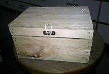Baú porta trecos / caixinha de morango