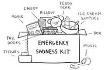 comfort box / inspiration and some ideas about what to include in a box to comfort you when you're anxious or triggered or stressed