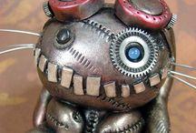 Steampunk / Steampunk jewelry, ornaments, clocks, clothes; steam punk