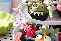 Party ideas: Monsters / Entertaining; parties; party table settings; party decorations; party invitations; party lighting