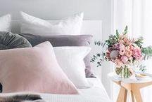 SLEEP / Home Decor • Beds | Comfy pillows, fluffy blankets & symmetrical bedding.