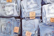DENIM / Fashion • Denim | Jackets, jeans ripped at the knees & overalls.