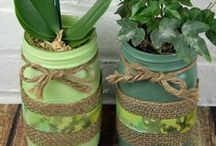 Mason Jar Gardening / Get your garden growing with the use of mason jars! Our board is loaded with different ways to utilize jars indoors and out for all of your plants! #RockysACE rockys.com