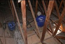 Roof Cleaning / We vacuum inside roof spaces and ceilings