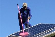 Infra-red and Photo-voltaic Panel Cleaning / Hot water panels and PV panels lose efficiency if not cleaned regularly. IR and PV panels easily lose 20% or more of their efficiency if covered in dust and bird-droppings. This is an essential winter task - short days and minimal sunlight!