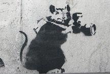 Banksy Rat / Rato / Graffiti and Stencils
