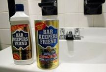 Barkeepers Friend in the Bathroom  / Places to use BKF in the bathroom, shower doors, tile, toilets, bathtubs, grout, etc.