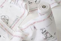 Wafer Thin, 2012. / Caren Garfen - Artist.  'Kitchen Towel Roll'. Concept: Women and Dieting. Silkscreen Printing & Hand Stitch.
