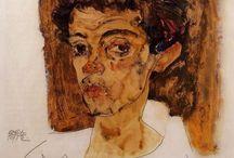 Egon Schiele Self Portrait / Painter