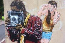 Street Artist at Work / Graffiti etc.