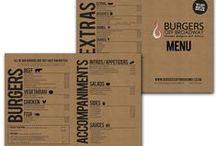 Restaurant Graphic Design - menus