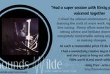 All about Sounds Wilde  / A place to discover all about Sounds Wilde and Kirsty Gillmore (that's me!). Samples of the voice reels I produce, sound designs I've created and a look in and around the studio and our wonderful clients