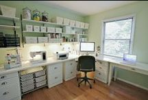 Craftroom / Although it may never happen in my lifetime, I dream of a tidy craft room!