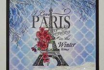 Stampendous - I love Paris stamp