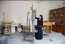 In the studio / Artists at work in their studio.