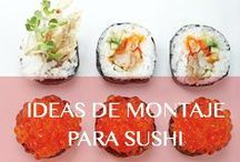 IDEAS PARA MONTAJE DE SUSHI / Platos y accesorios básicos en el montaje de sushi.  #Restaurantes #Hoteles #Chef #Sushi